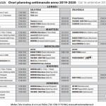 INIZIO CORSI ANNO 2019-2020